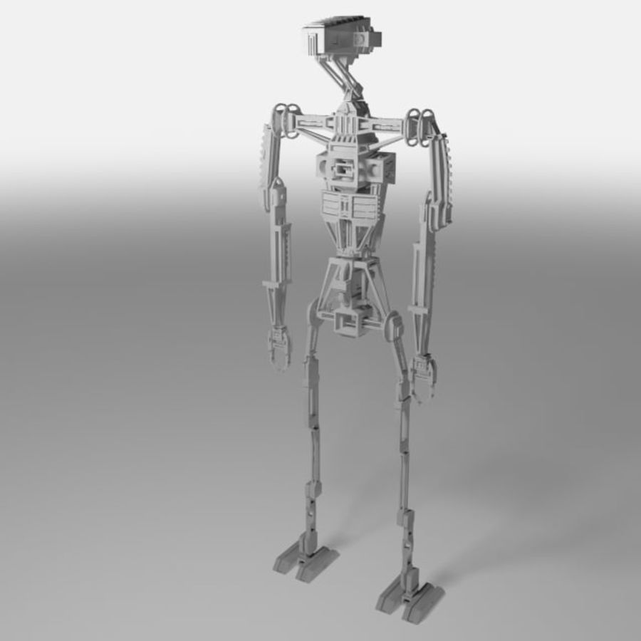 Robot rigged royalty-free 3d model - Preview no. 6
