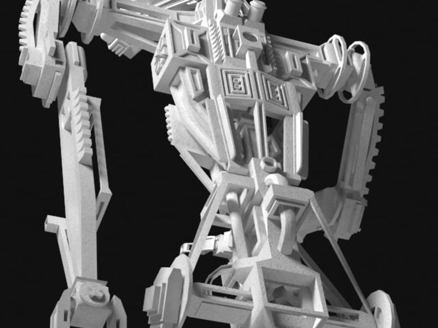 Robot rigged royalty-free 3d model - Preview no. 9