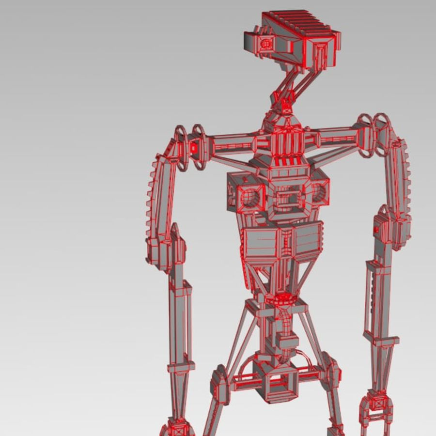 Robot rigged royalty-free 3d model - Preview no. 16