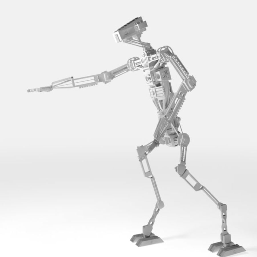 Robot rigged royalty-free 3d model - Preview no. 1
