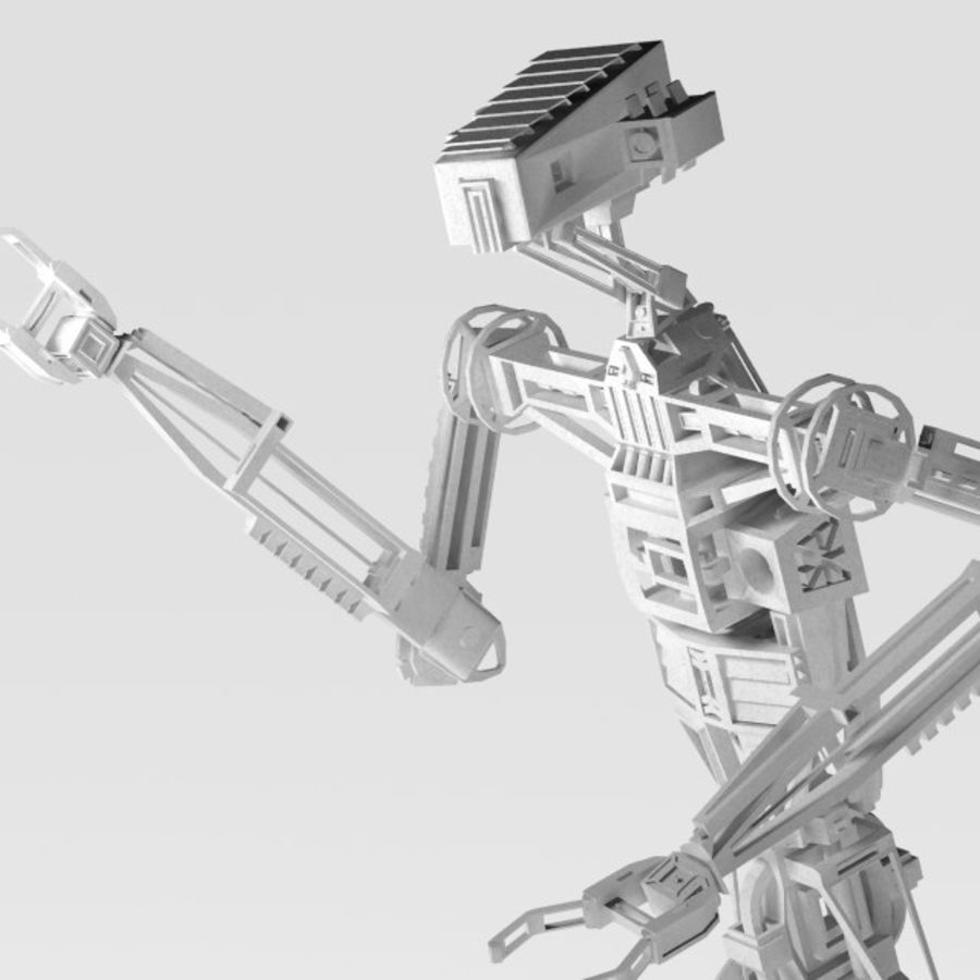Robot rigged royalty-free 3d model - Preview no. 2