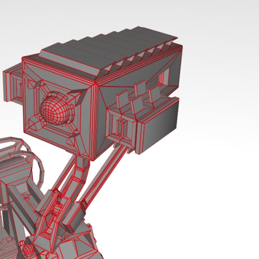 Robot rigged royalty-free 3d model - Preview no. 13