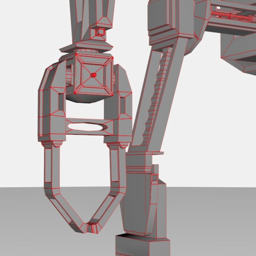 Robot rigged royalty-free 3d model - Preview no. 11