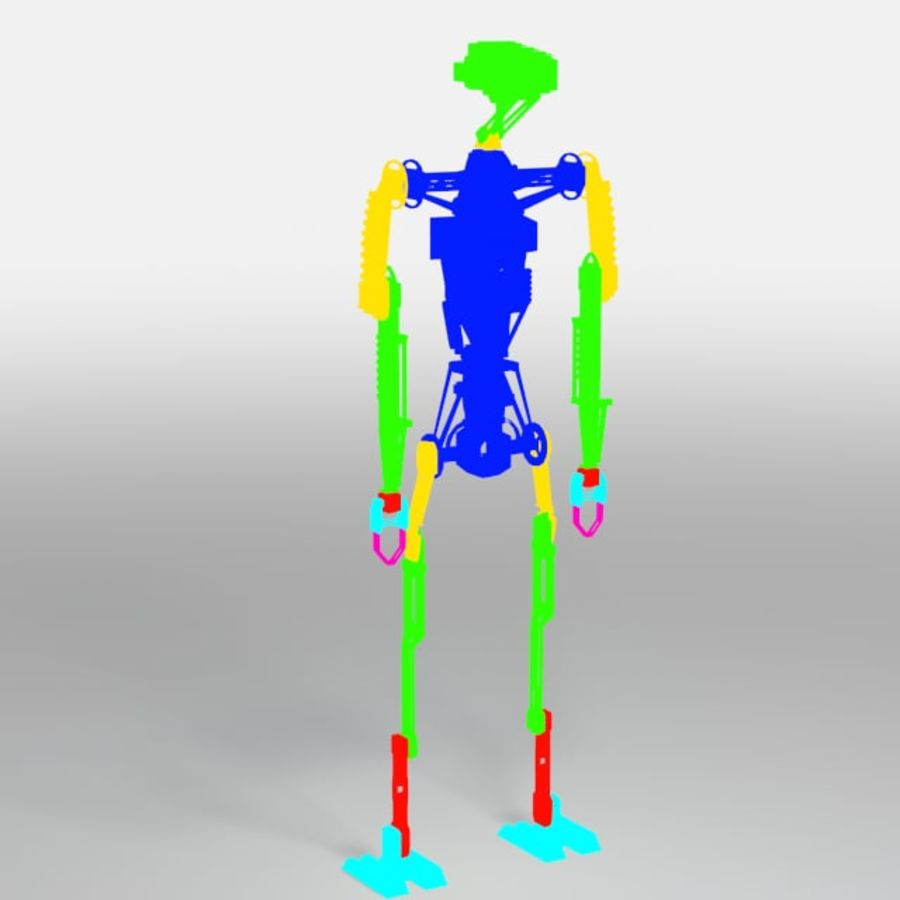 Robot rigged royalty-free 3d model - Preview no. 5