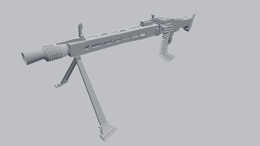 MG42 royalty-free 3d model - Preview no. 11