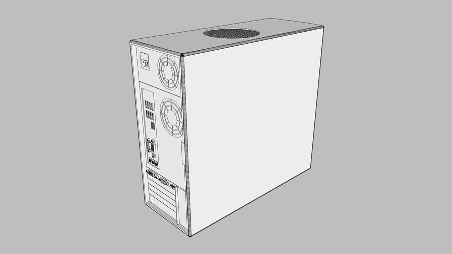 Computer Setup with Desk and Chair royalty-free 3d model - Preview no. 59