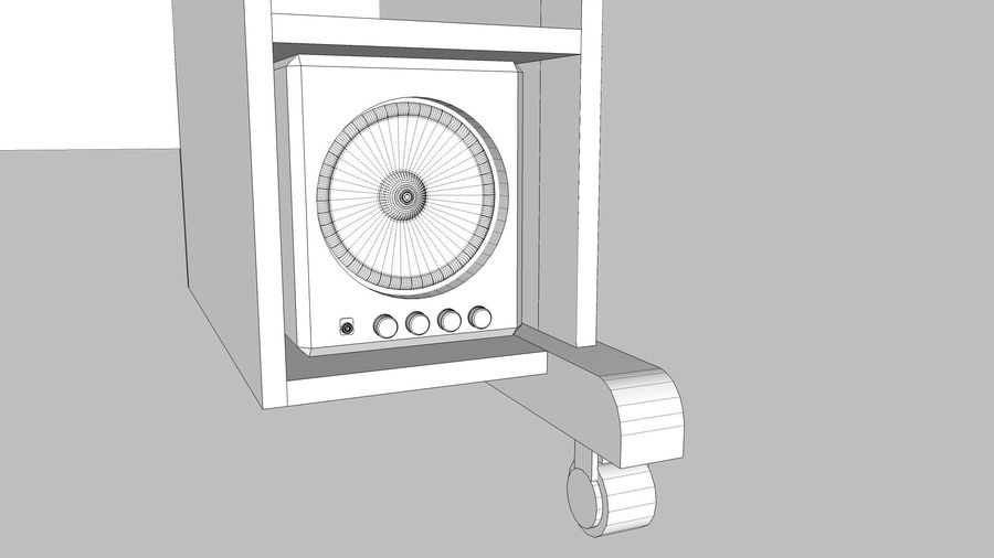 Computer Setup with Desk and Chair royalty-free 3d model - Preview no. 31