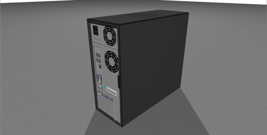 Computer Setup with Desk and Chair royalty-free 3d model - Preview no. 43