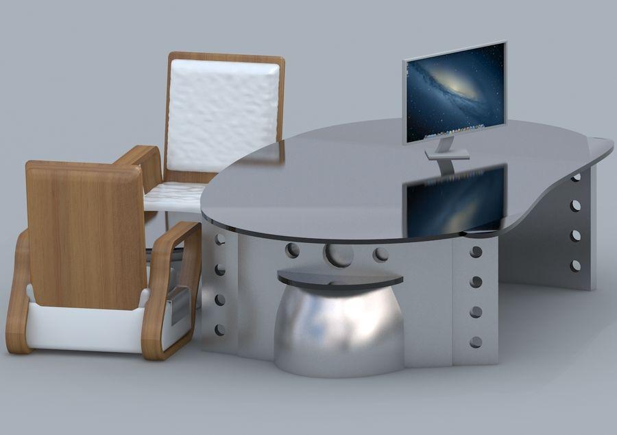 Silla, Mesa De Oficina, Sofá, Muebles De Oficina royalty-free modelo 3d - Preview no. 4