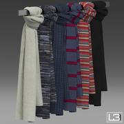 Mode winkel foulards 02 3d model