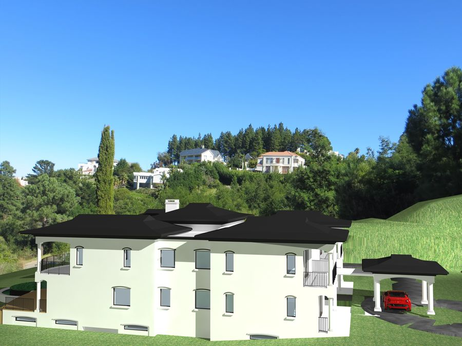 Dom architektury 007 royalty-free 3d model - Preview no. 4