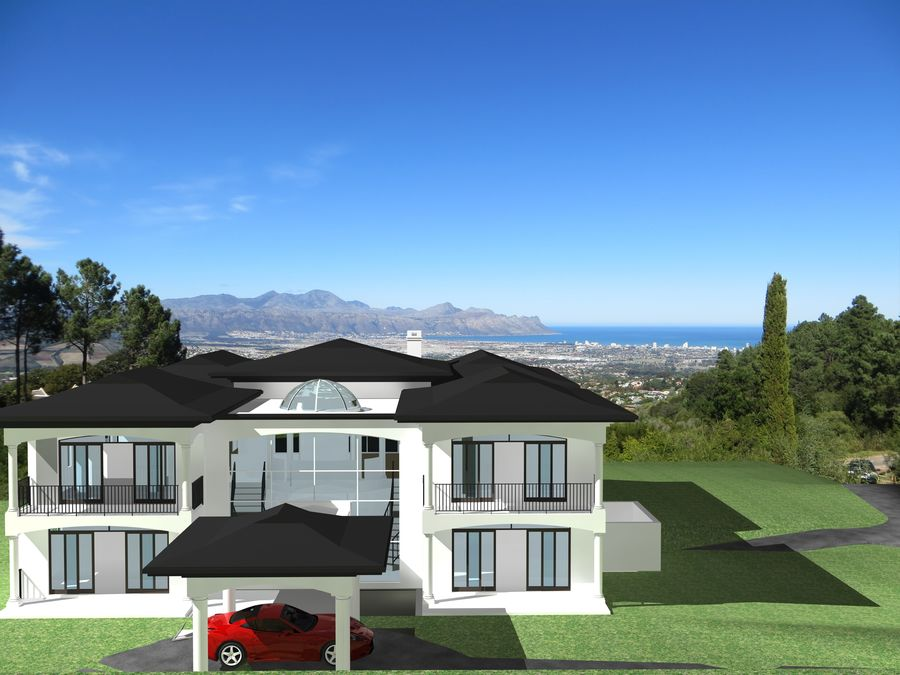 Dom architektury 007 royalty-free 3d model - Preview no. 1