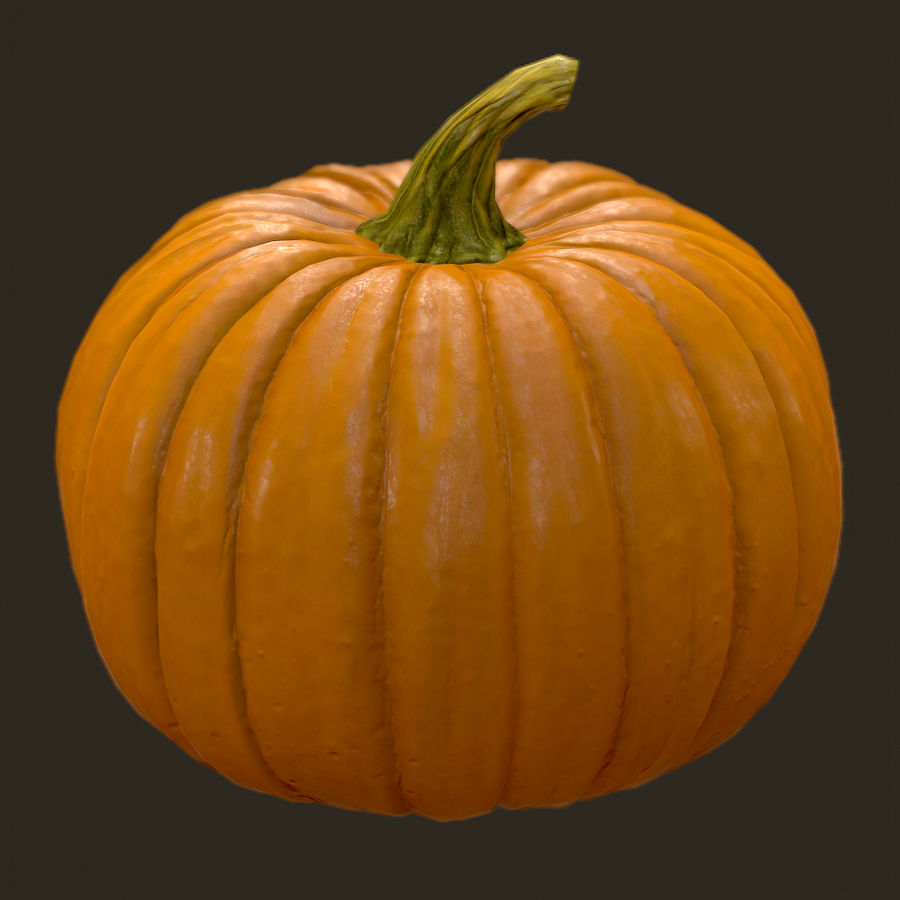Pumpkin royalty-free 3d model - Preview no. 1