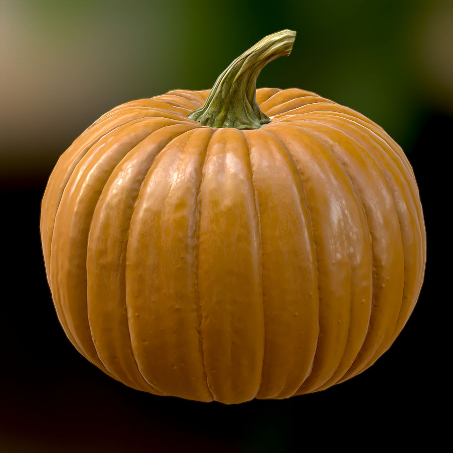 Pumpkin royalty-free 3d model - Preview no. 4