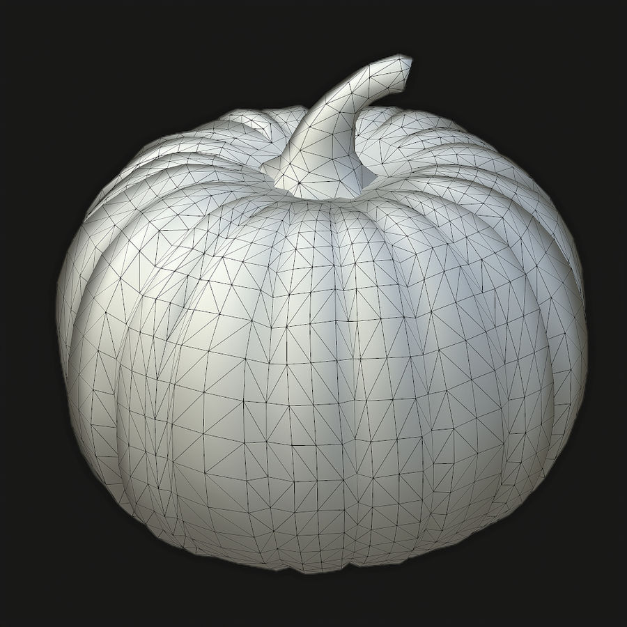 Pumpkin royalty-free 3d model - Preview no. 6