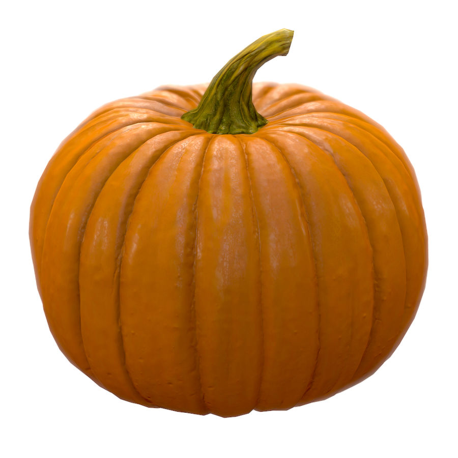 Pumpkin royalty-free 3d model - Preview no. 2
