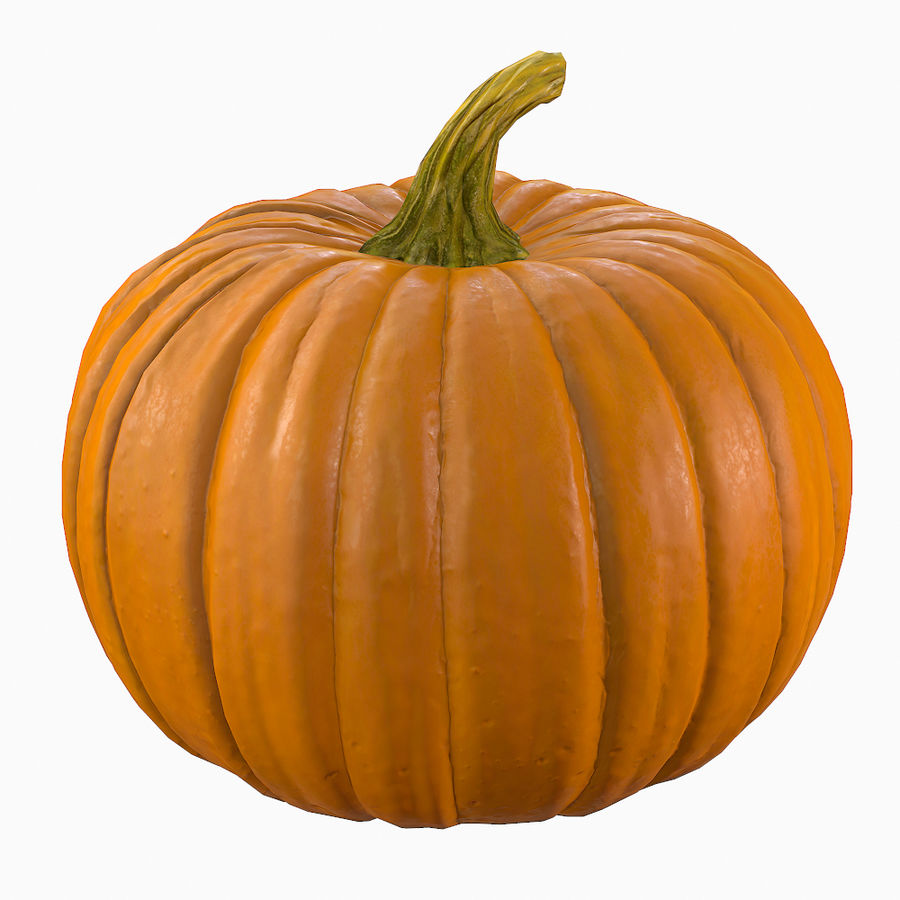 Pumpkin royalty-free 3d model - Preview no. 3