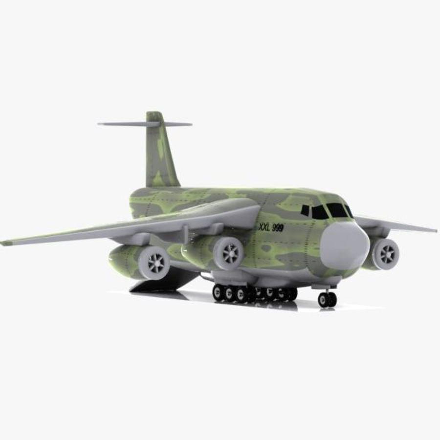 Cartoon Military Cargo Aircraft royalty-free 3d model - Preview no. 3