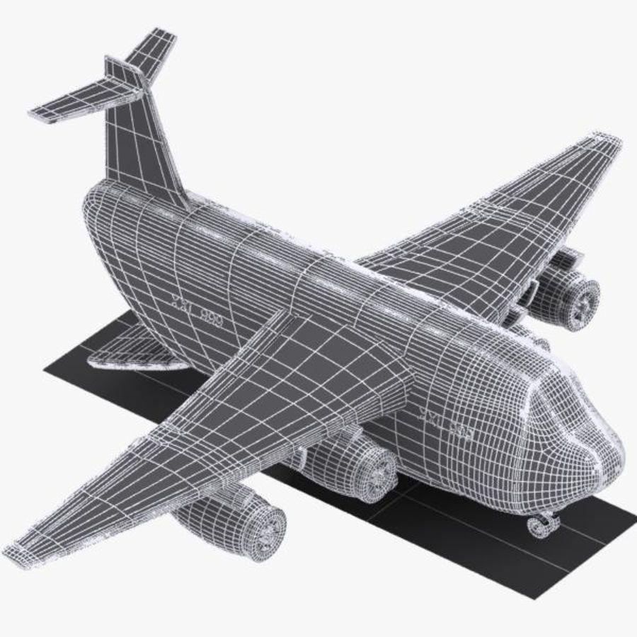 Cartoon Military Cargo Aircraft royalty-free 3d model - Preview no. 14