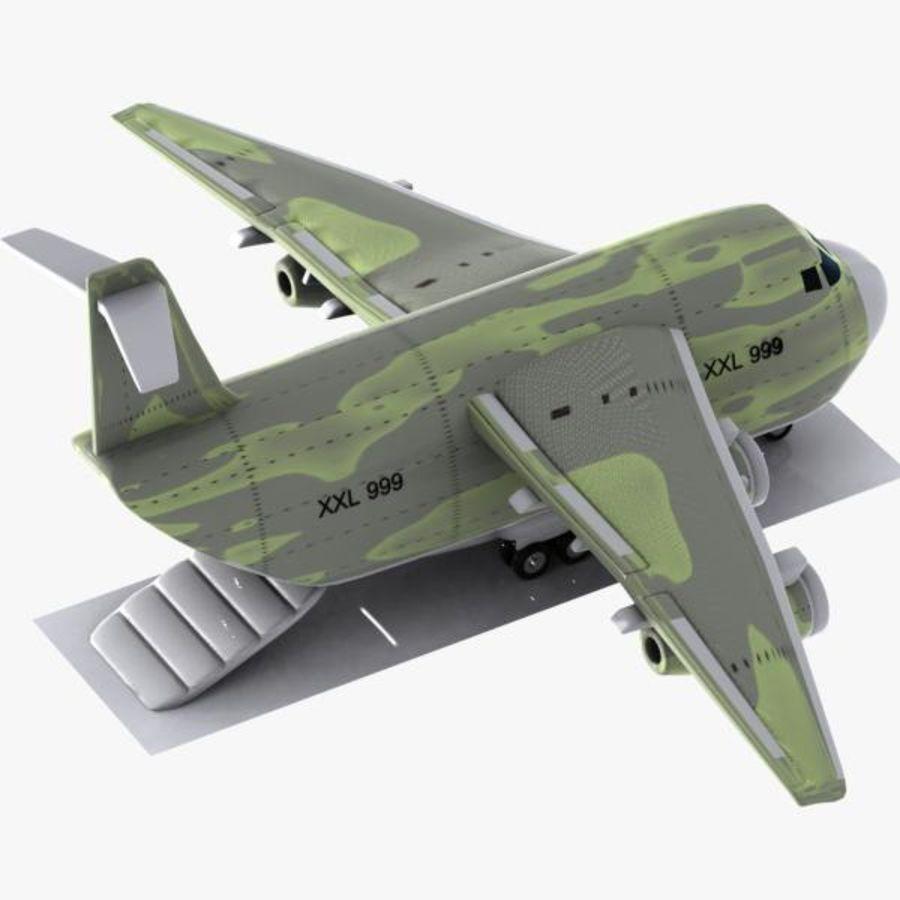 Cartoon Military Cargo Aircraft royalty-free 3d model - Preview no. 5