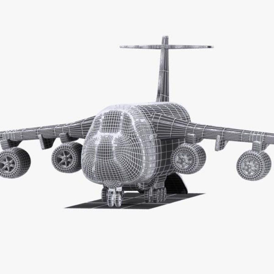 Cartoon Military Cargo Aircraft royalty-free 3d model - Preview no. 12