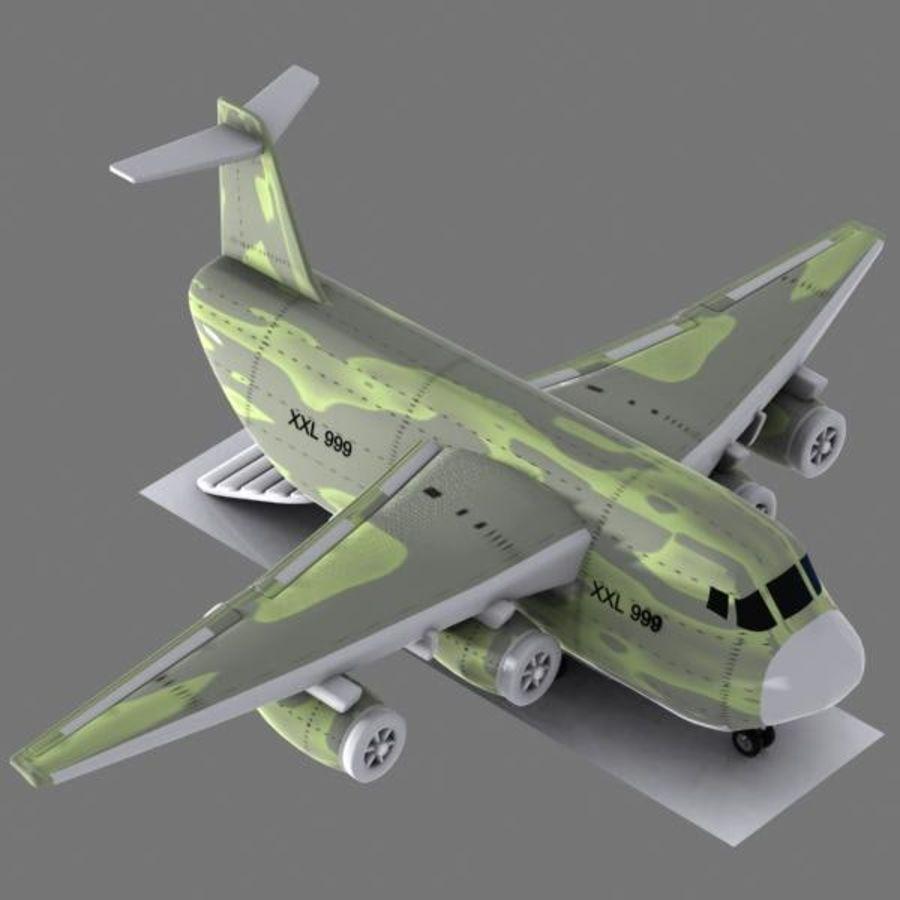 Cartoon Military Cargo Aircraft royalty-free 3d model - Preview no. 2