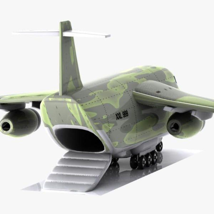 Cartoon Military Cargo Aircraft royalty-free 3d model - Preview no. 7