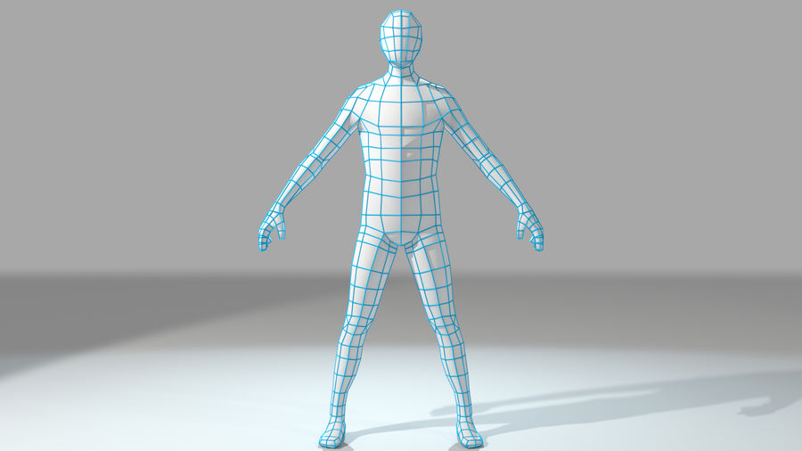 Maillage de base humanoïde royalty-free 3d model - Preview no. 3