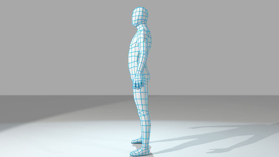 Maillage de base humanoïde royalty-free 3d model - Preview no. 7