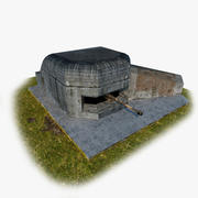 Немецкий бункер 3d model
