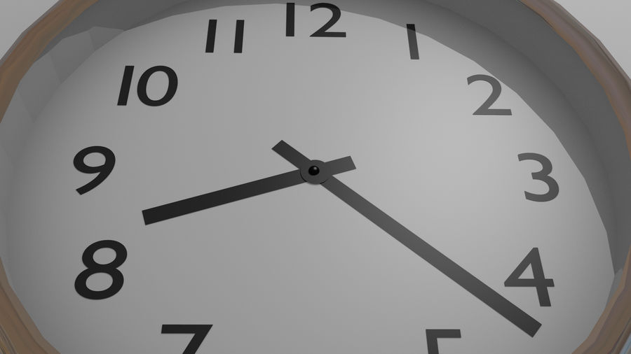 Wall Clock royalty-free 3d model - Preview no. 4