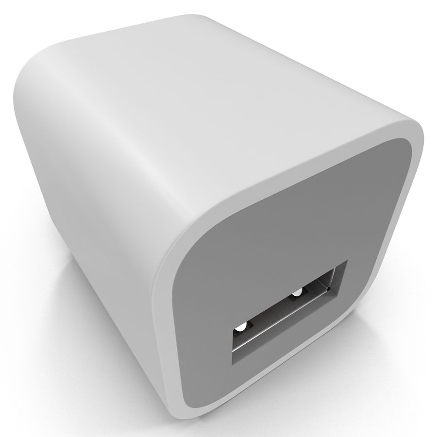 USB-Ladegerät royalty-free 3d model - Preview no. 10