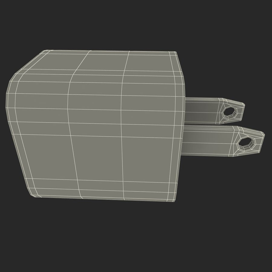 USB-Ladegerät royalty-free 3d model - Preview no. 17