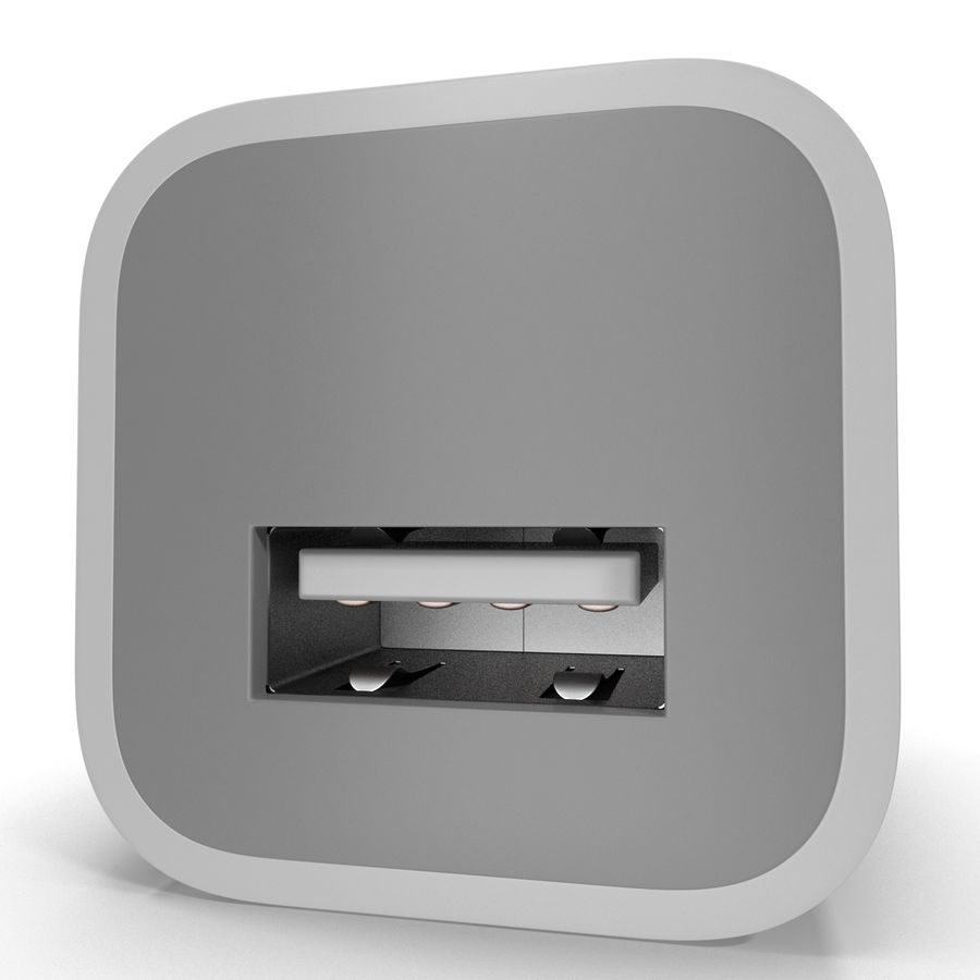 USB-Ladegerät royalty-free 3d model - Preview no. 7