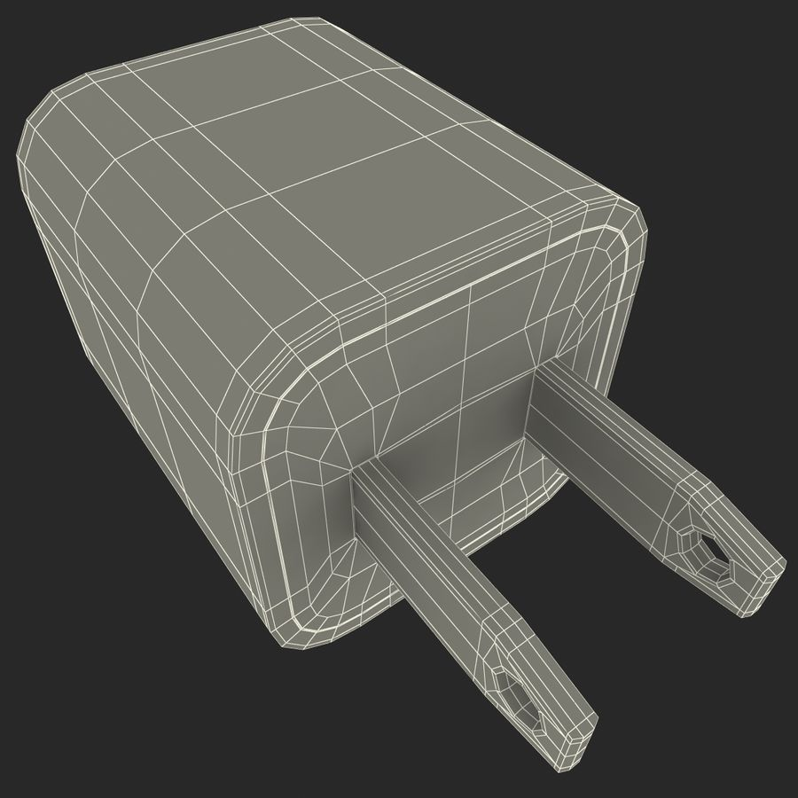 USB-Ladegerät royalty-free 3d model - Preview no. 18