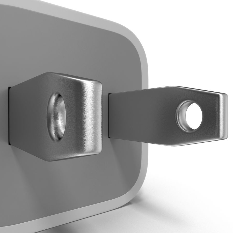 USB-Ladegerät royalty-free 3d model - Preview no. 14