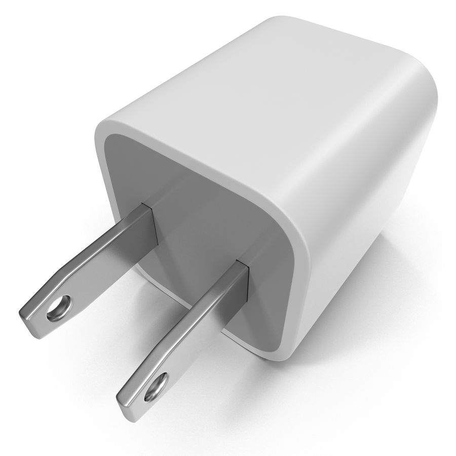 USB-Ladegerät royalty-free 3d model - Preview no. 8