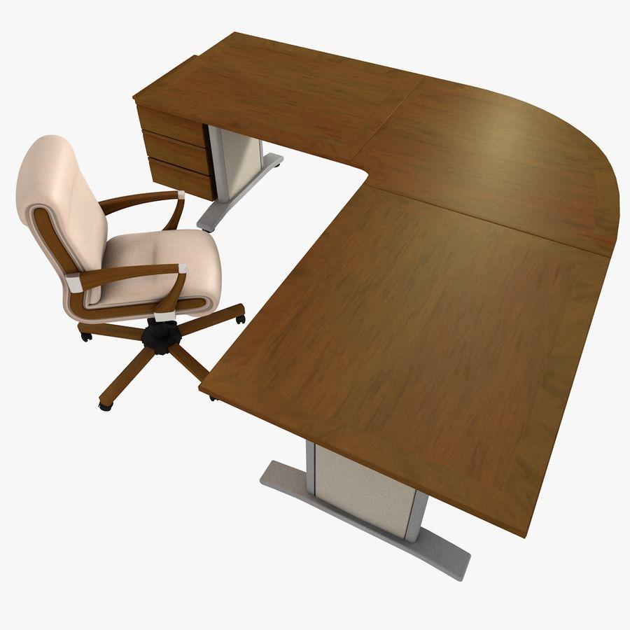 Escritorio y silla de oficina royalty-free modelo 3d - Preview no. 4