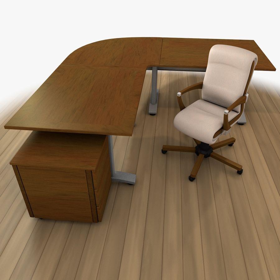 Escritorio y silla de oficina royalty-free modelo 3d - Preview no. 2