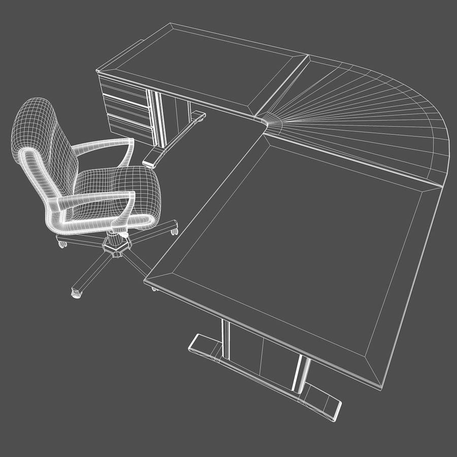 Escritorio y silla de oficina royalty-free modelo 3d - Preview no. 8