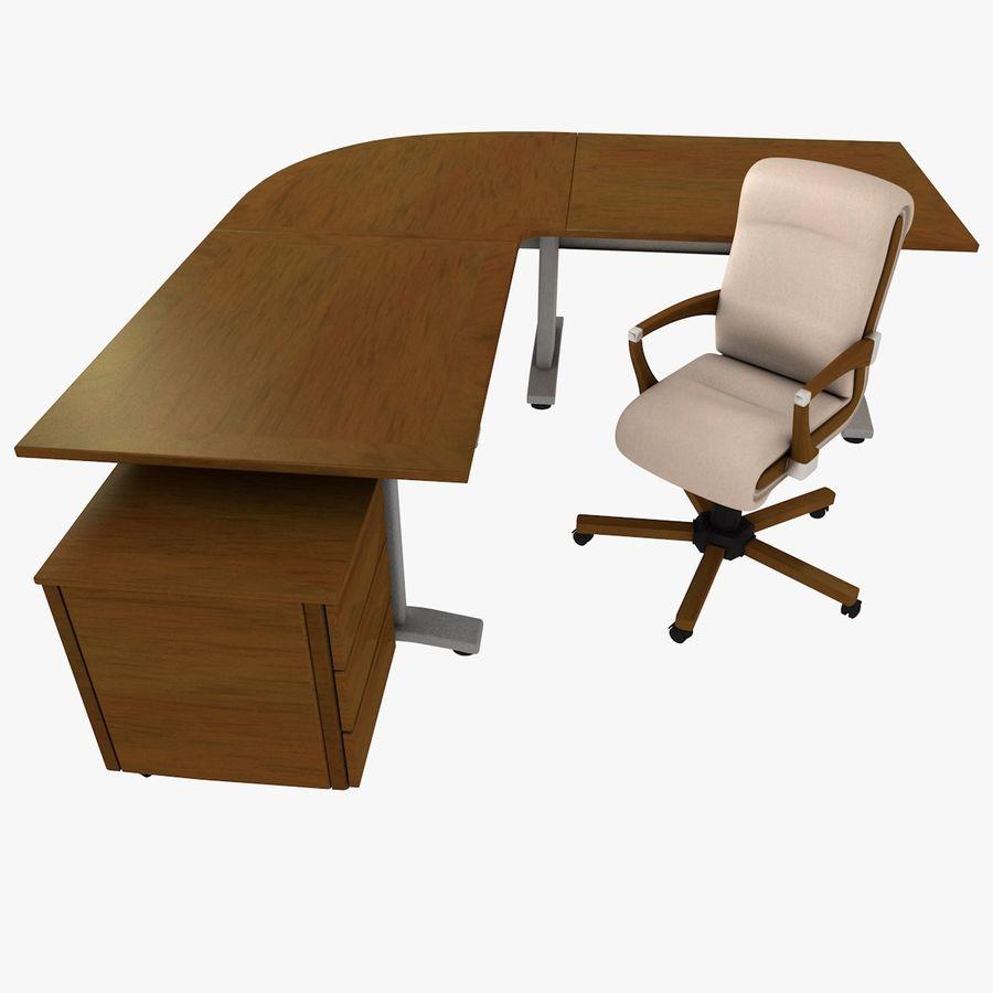 Escritorio y silla de oficina royalty-free modelo 3d - Preview no. 1