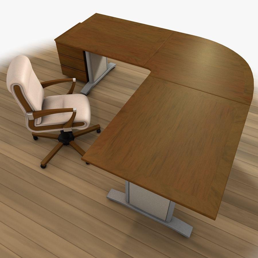 Escritorio y silla de oficina royalty-free modelo 3d - Preview no. 5