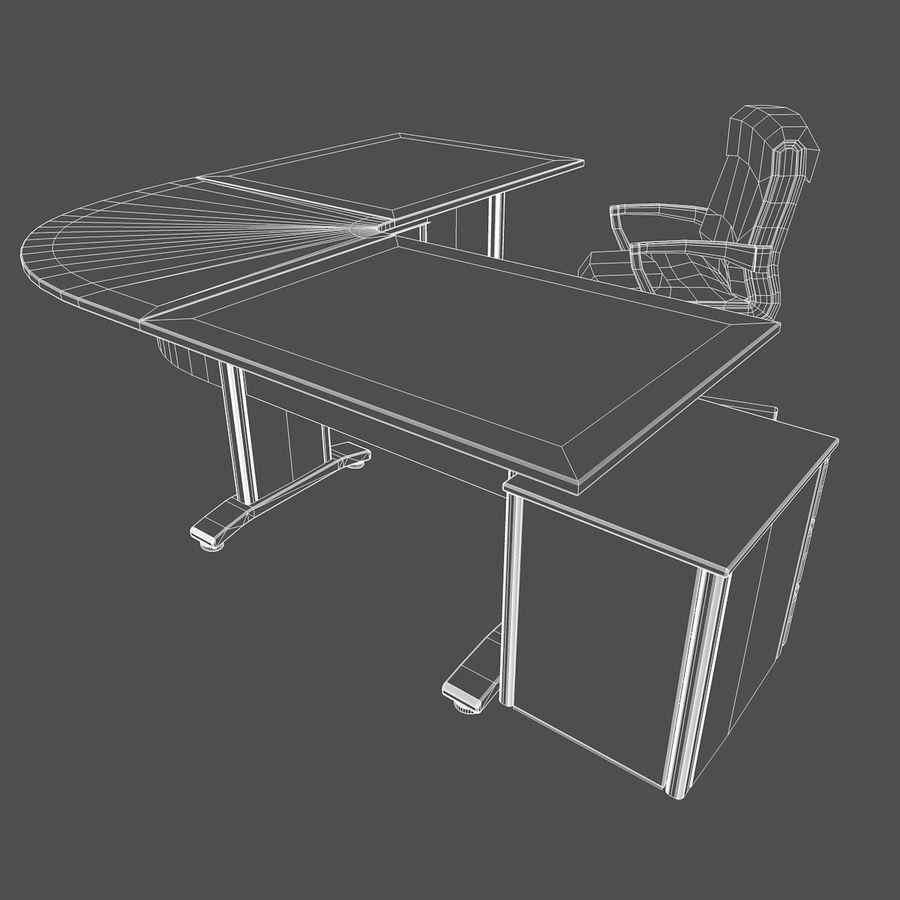 Escritorio y silla de oficina royalty-free modelo 3d - Preview no. 10
