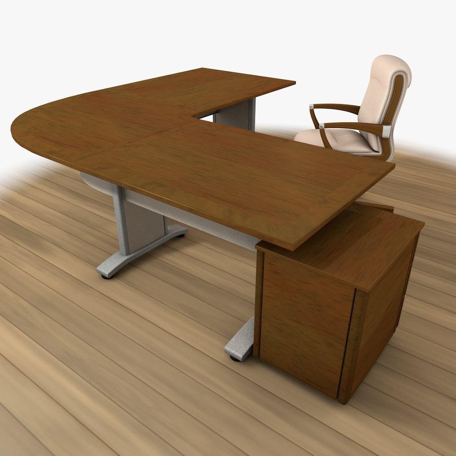 Escritorio y silla de oficina royalty-free modelo 3d - Preview no. 6