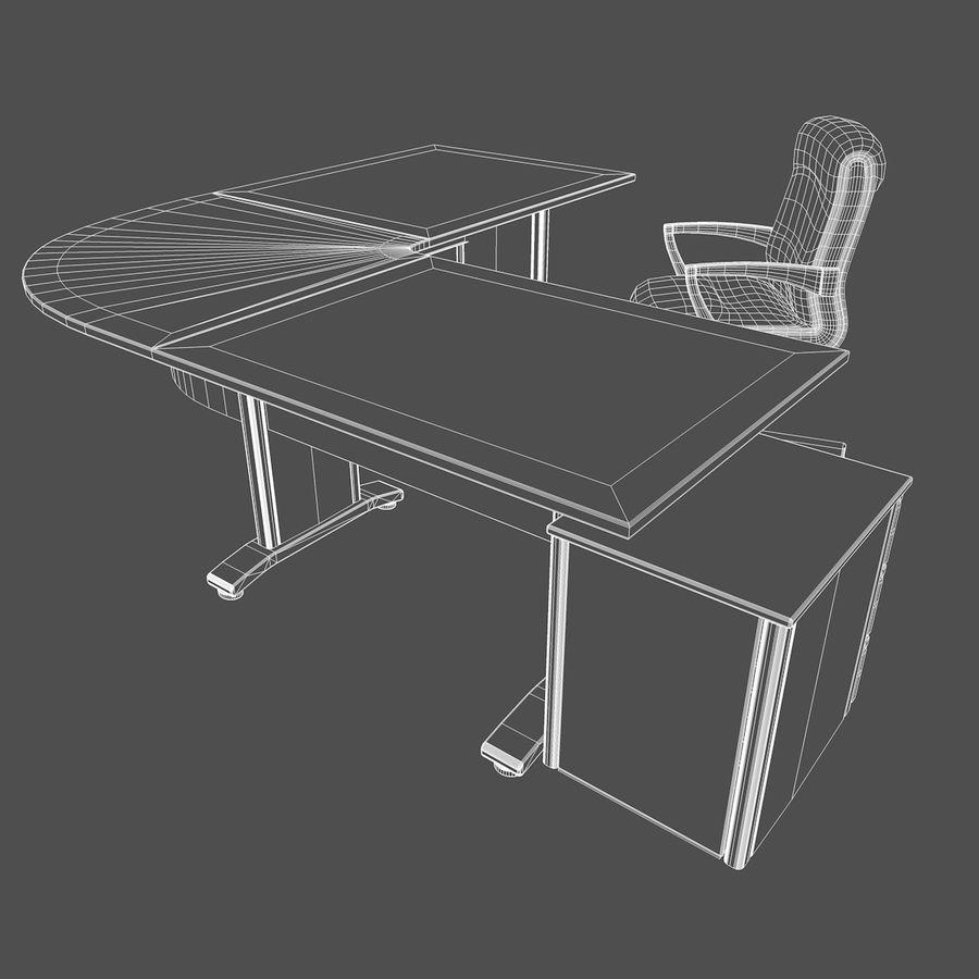 Escritorio y silla de oficina royalty-free modelo 3d - Preview no. 11