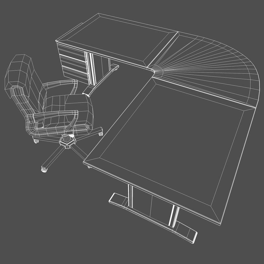 Escritorio y silla de oficina royalty-free modelo 3d - Preview no. 9