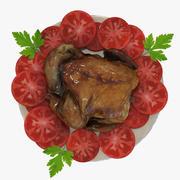 구운 치킨 3d model