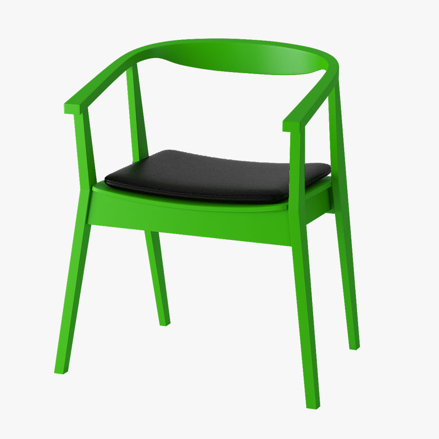 Ikea Stockholm Chair royalty-free 3d model - Preview no. 3