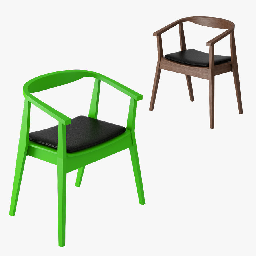 Ikea Stockholm Chair royalty-free 3d model - Preview no. 5