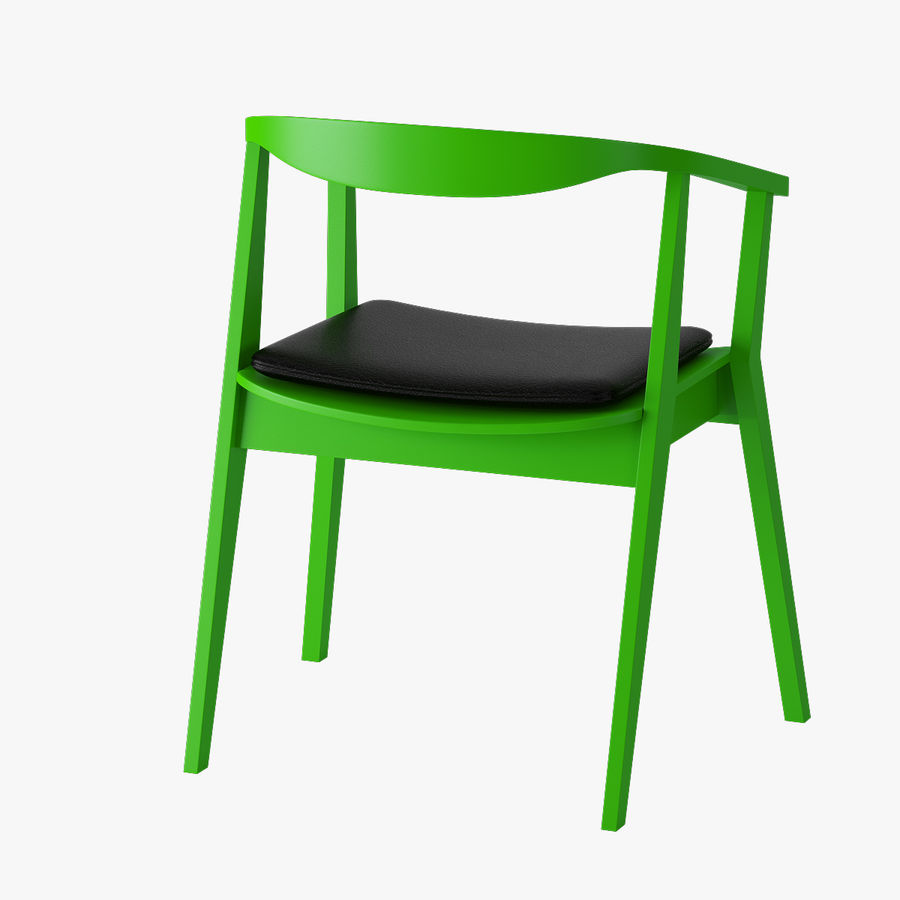 Ikea Stockholm Chair royalty-free 3d model - Preview no. 4